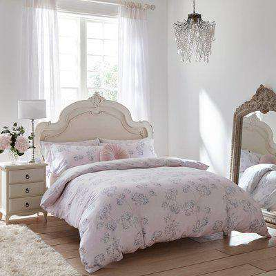 Holly Willoughby Adeline Blush 100% Brushed Cotton Reversible Duvet Cover and Pillowcase Set Blush (Pink)