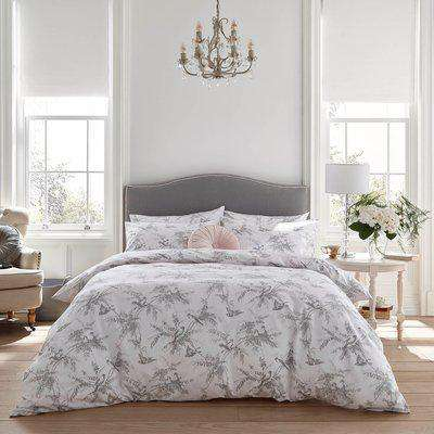 Holly Willoughby Fauna Mint 100% Brushed Cotton Reversible Duvet Cover and Pillowcase Set Mint