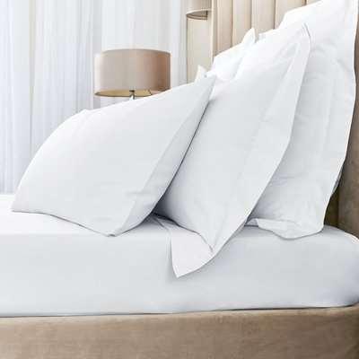 Hotel Egyptian Cotton 230 Thread Count Sateen White Duvet Cover White