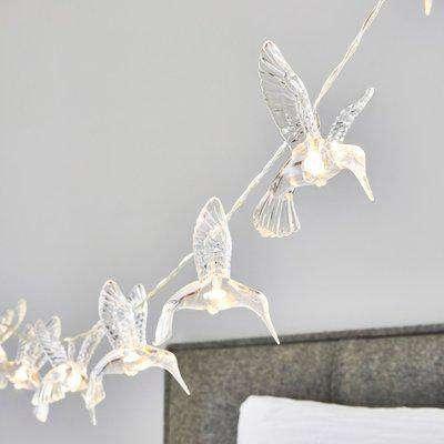 Hummingbird 10 Light String Lights Clear
