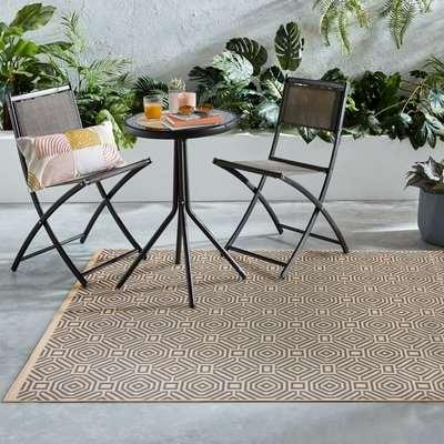 Vita Indoor Outdoor Rug Beige and Grey