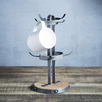 Industrial Kitchen Mug Tree Silver