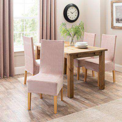 Isla Dining Chair Cover Blush