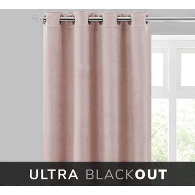 Isla Thermal Ultra Blackout Blush Eyelet Curtains Blush Pink