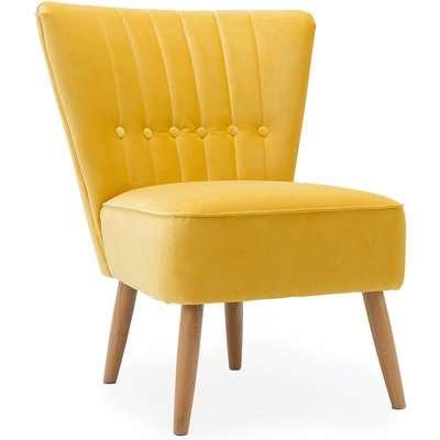 Isla Velvet Cocktail Chair - Citrus Yellow