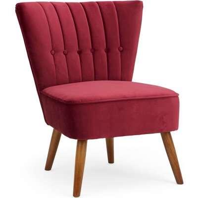 Isla Velvet Cocktail Chair - Claret Claret
