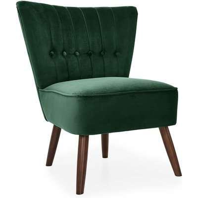 Isla Velvet Cocktail Chair - Emerald Green