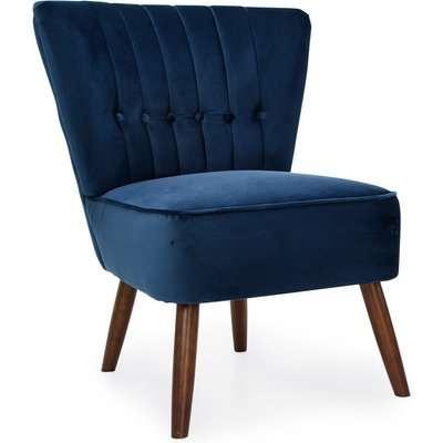 Isla Velvet Cocktail Chair - Midnight Midnight Blue