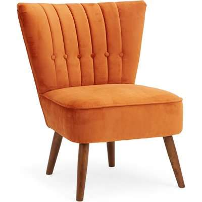 Isla Velvet Cocktail Chair - Orange Orange