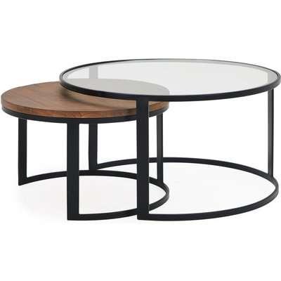 Jackson Set of 2 Coffee Tables Brown