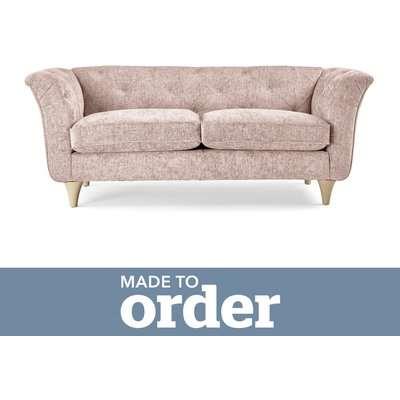 Jaipur 2 Seater Sofa Luxury Chenille Premium Chenille Rosewood