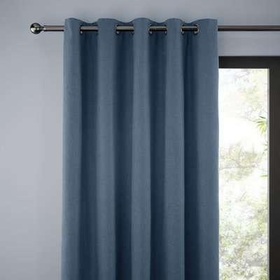 Jennings Ashley Blue Thermal Eyelet Curtains Blue