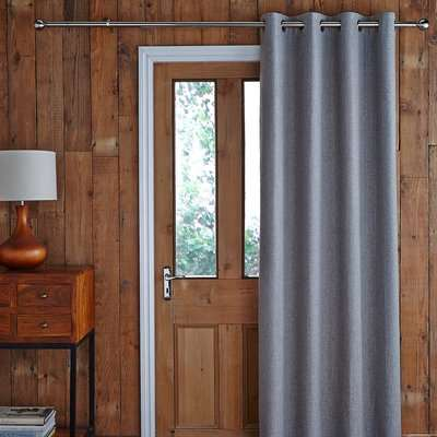 Jennings Charcoal Thermal Door Curtain Charcoal