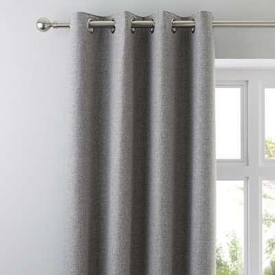 Jennings Grey Thermal Eyelet Curtains Grey