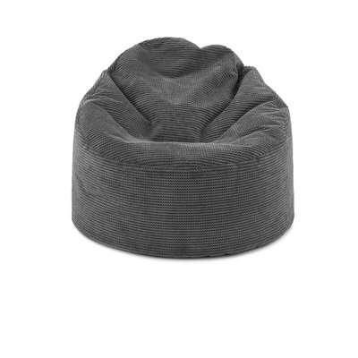 Jenson Charcoal Bean Bag Chair Charcoal