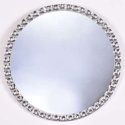 Jewel Round Mirror Clear