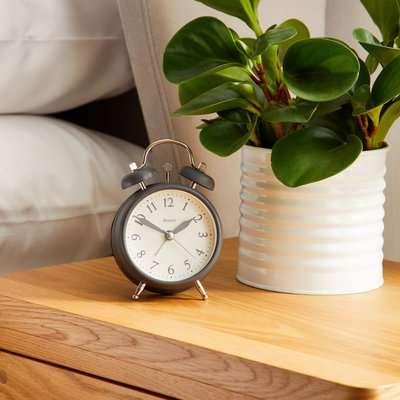 Jones Alarm Clock Charcoal Charcoal