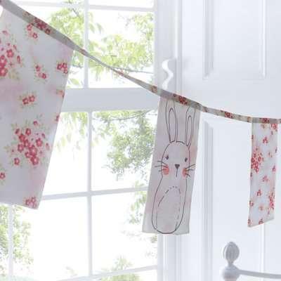Katy Rabbit Bunting Pink / White