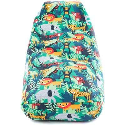 Kids Jungle Friends Relaxer Bean Bag Green