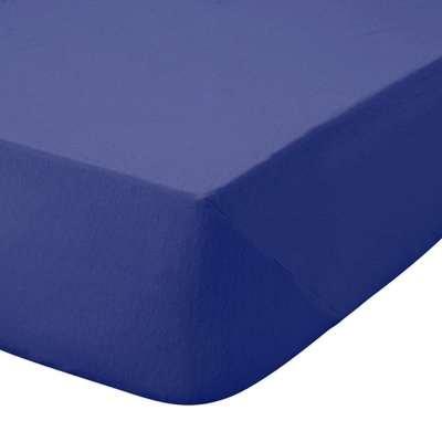 Kids Non Iron Plain Dye Navy 25cm Fitted Sheet Navy
