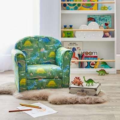 Kids Roar Dinosaurs Armchair Green
