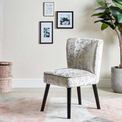 Kids Silver Crushed Velvet Chair Silver