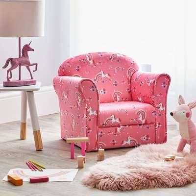 Kids Unicorn Armchair Pink