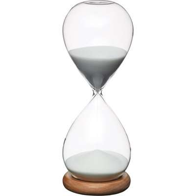 KitchenCraft Natural Elements Hourglass Timer Clear