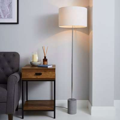 Kya Concrete Base Floor Lamp Grey