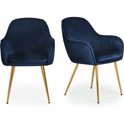 Laila Set of 2 Dining Chairs Blue