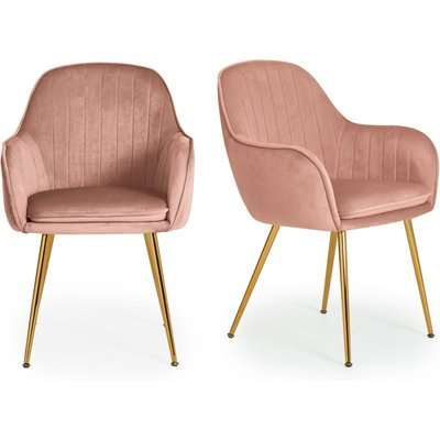 Laila Set of 2 Dining Chairs Pink