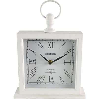 Large White Mantel Clock White