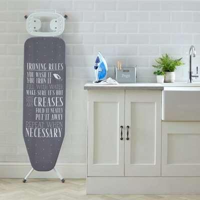 Laundry Rules Ironing Board Grey