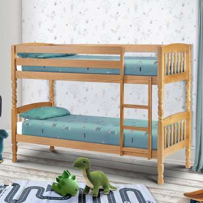 Lincoln Pine Bunk Bed - Small Single Natural