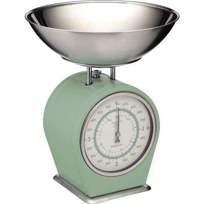 Living Nostalgia Green Mechanical Kitchen Scales Green
