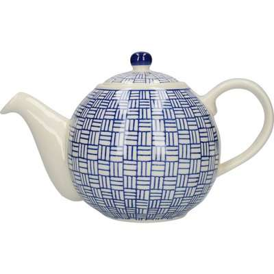 London Pottery Lattice Blue Teapot Blue