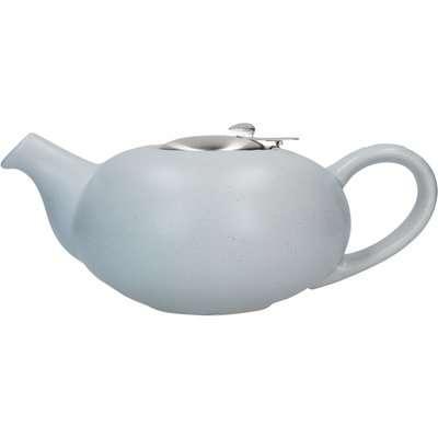 London Pottery Matt Flecked Light Blue Pebble Teapot Blue