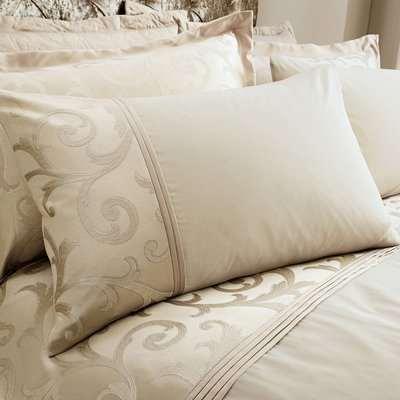 Lucia Natural Housewife Pillowcase Natural Brown