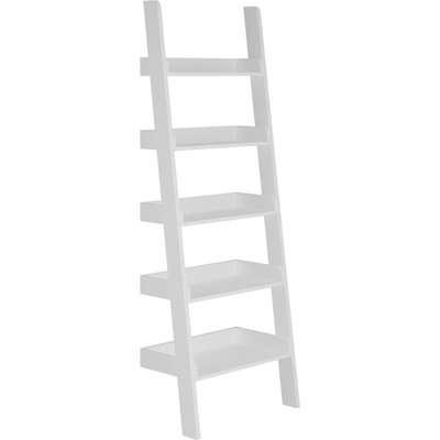 Lynton White Ladder Bookcase White