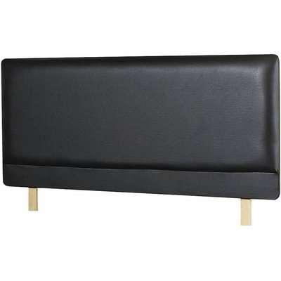 Madrid Faux Leather Headboard Black