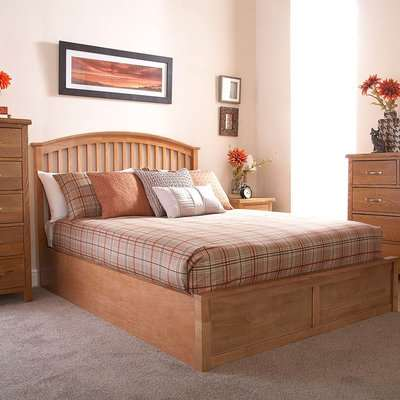 Madrid Wooden Ottoman Bed Brown