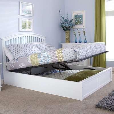 Madrid White Ottoman Bed White