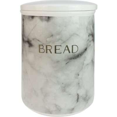 Marble Effect Bread Bin Black & White