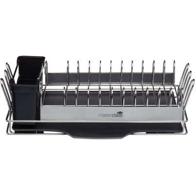 MasterClass Compact Stainless Steel Dish Drainer Silver