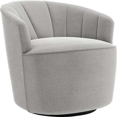 Matilda Boucle Swivel Chair Light Grey