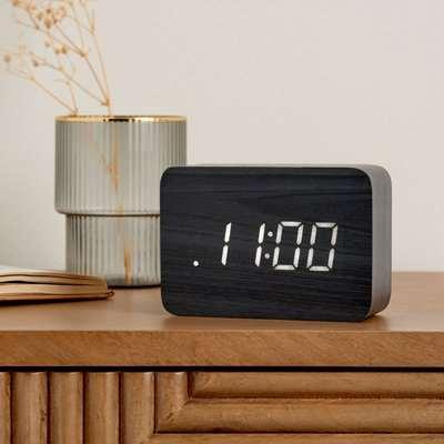Modern LED Alarm Clock Black