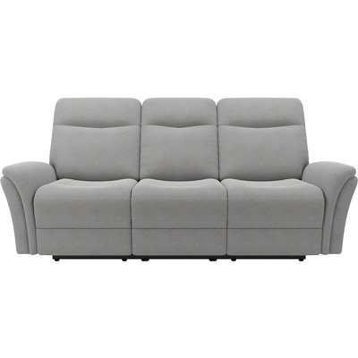 Monte Chenille Reclining 3 Seater Sofa Light Grey