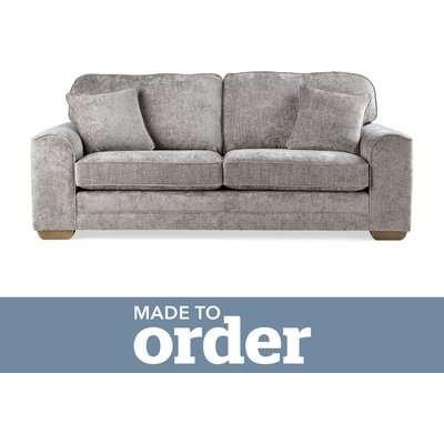 Morello 3 Seater Sofa Luxury Chenille Premium Chenille Grey