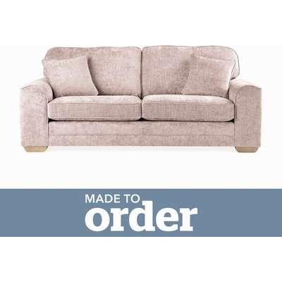 Morello 3 Seater Sofa Luxury Chenille Premium Chenille Rosewood