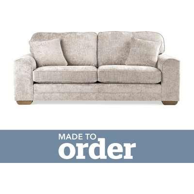 Morello 3 Seater Sofa Luxury Chenille Premium Chenille Sand